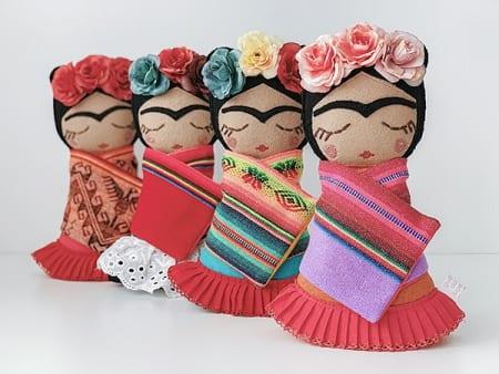 Frida Kahlo doll mexican rag doll Irish handmade
