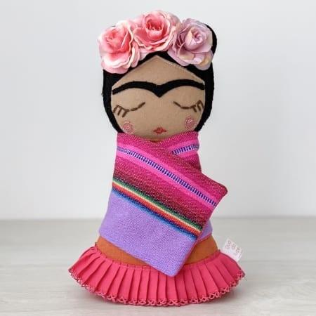 frida doll handmade in Ireland rag doll
