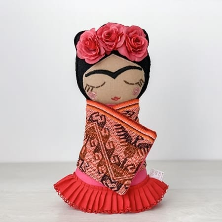 frida doll handmade in Ireland rag irish craft