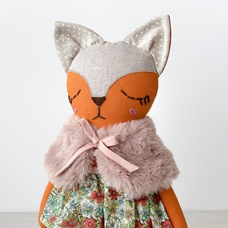 fox doll pretty fox handmade red fox handcrafted