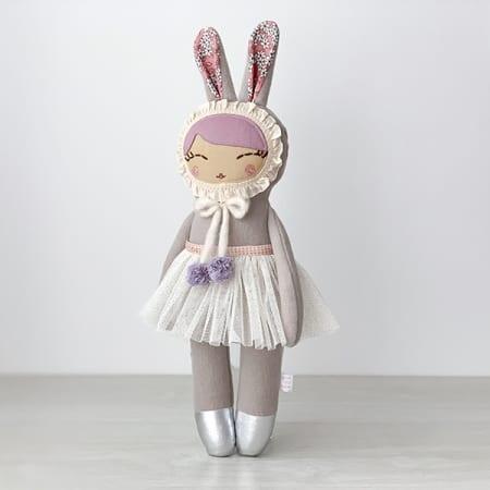 Heirloom doll bunny girl ballerina tutu handcrafted