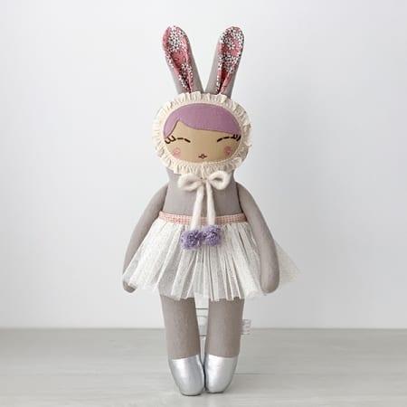 handmade doll handcrafted in Ireland heirloom rag doll ballerina