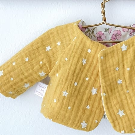 double gauze yellow jacket doll rag doll handcrafted
