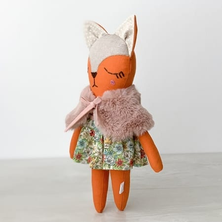fox doll with clothes handmade in Ireland