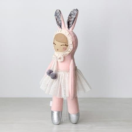 pink bunny doll tutu ballerina handcrafted