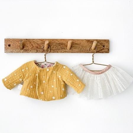 double gauze yellow jacket doll rag doll tutu handmade in Ireland