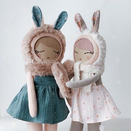 heirloom rag doll handmade in Ireland pretty doll mini clothes