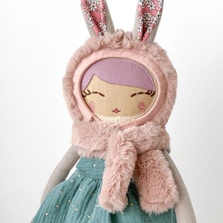 heirloom doll handmade rag doll pretty bunny doll