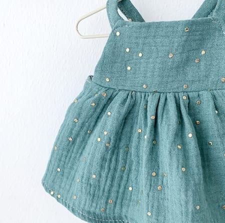 mini doll clothes cotton dress handmade in Ireland