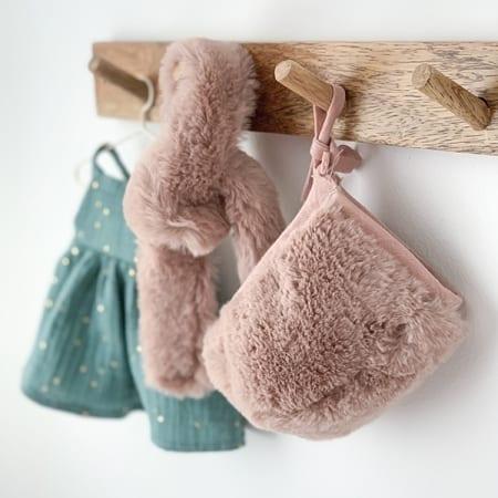 mini doll clothes faux fur hat handmade in Ireland