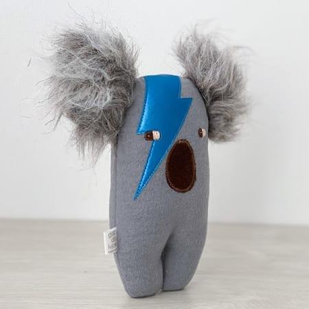 Koala soft toy Bowie koala handmade in Ireland