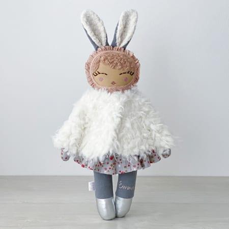 precious handmade doll personalised doll rag doll fur jacket