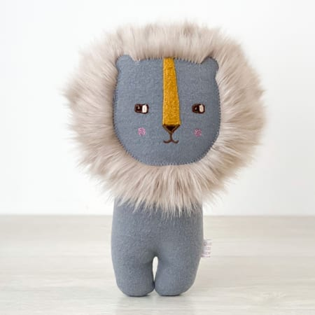 handmade in Ireland Cute handmade lion handmade soft toy plushy
