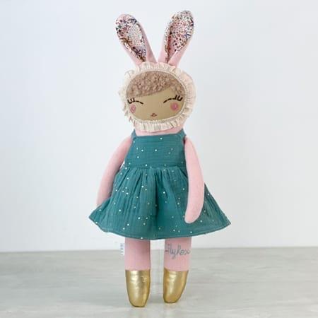 heirloom doll handmade in Ireland bunny doll personalised rag doll