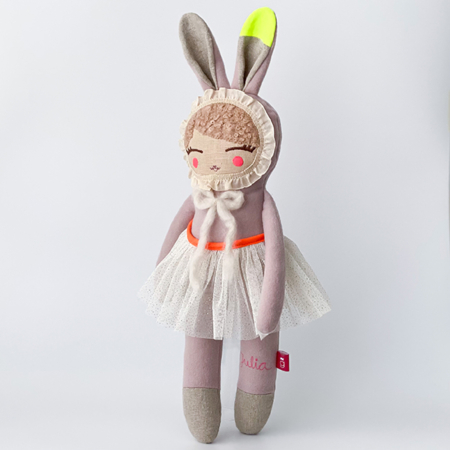 handmade heriloom doll personalised bunny Irish handmade