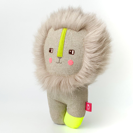 lion soft toy hairy handcrafted in Ireland